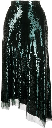 Ermanno Scervino Sequin-Embellished Midi Skirt