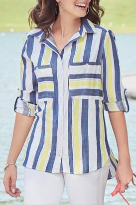 Katherine Barclay Oversize Stripe Shirt