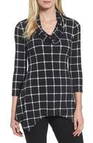 Chaus Women's Terrace Plaid Handkerchief Hem Top