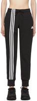 adidas Black Asymmetric 3-Stripes Lounge Pants