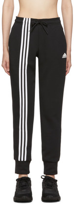 adidas Black Asymmetric 3-Stripes Lounge Pants