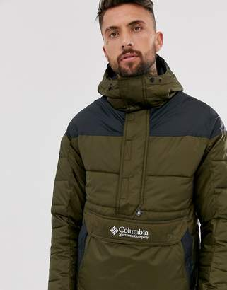 Columbia Lodge pullover jacket in green