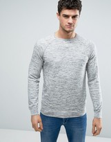 Tokyo Laundry Lightweight Cotton Heathered Crew Neck Sweater