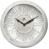 Infinity Instruments Chalet Wall Clock - White