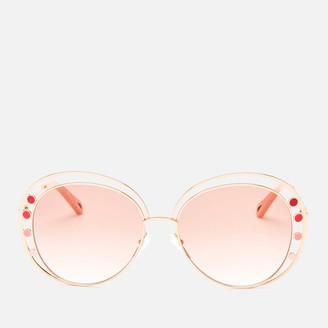 Chloé Women's Round Frame Sunglasses - Gold/Brown