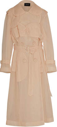 Simone Rocha Classic Cut Tulle Trench Coat