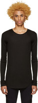 Balmain Black Ribbed T-Shirt