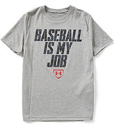 Under Armour Big Boys 8-20 Baseball Is My Job Short-Sleeve Tee