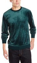Akademiks Men's Velour Crew Neck Sweatshirt