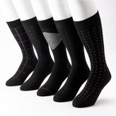 Dockers Men's 5-pk. Windowpane Casual Crew Socks