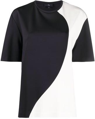Fay Bi-Colour Short-Sleeved Shirt