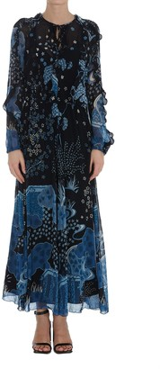 RED Valentino Oriental Toile De Jouy Printed Dress
