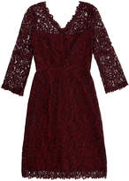 Goat Bordeaux Valentine V-Neck Lace Dress