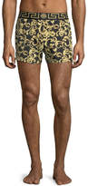 Versace Barocco Net Short Swim Trunks