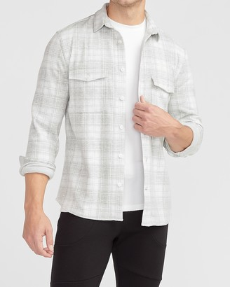 Express Slim Plaid Supersoft Flannel Shirt