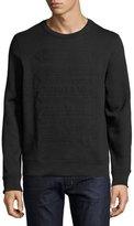 Burberry Atley Regimental-Tape Sweatshirt, Black