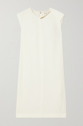 Victoria Beckham Chain-embellished Crepe Dress - White