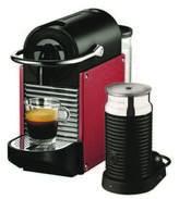 Nespresso NEW Pixie Coffee Machine in Red EN125R+