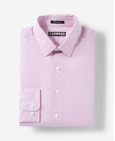 Express Modern Fit Micro Dot Print Cotton Dress Shirt