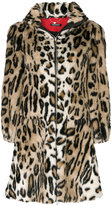 Twin-Set A-line leopard print coat
