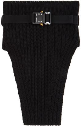 Alyx Black Knit Buckle Neck Warmer Scarf