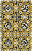 Leon Hand-tufted de Yellow Rug (8' x 10')