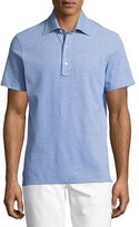Isaia Pique Cotton Polo Shirt