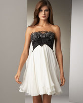 Lace-Trim Cocktail Dress