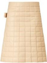 Bottega Veneta High-rise Quilted Leather Skirt - Womens - Ivory