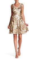 Marina Floral Sequin A-Line Dress