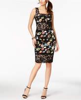 Jax Mixed Lace & Embroidered Sheath Dress