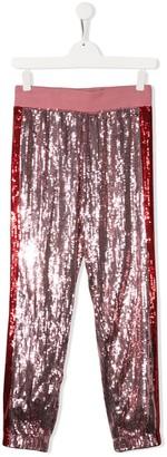 Alberta Ferretti Kids TEEN sequin embellished trousers