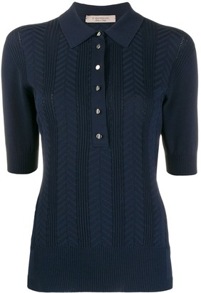 D-Exterior Knitted Polo Shirt