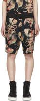 Diet Butcher Slim Skin Black nipoaloha Edition Jakuchu Shamo Print Shorts