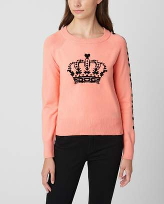 Couture Juicy CoutureJuicy CROWN PINK RAGLAN SWEATER PULLOVER