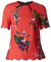 Ted Baker Tropical Oasis Scallop Edge Top