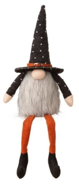 Glitzhome Halloween Fabric Gnome Sitter Decor