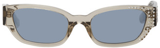 Magda Butrym Grey Linda Farrow Edition Crystal Sunglasses