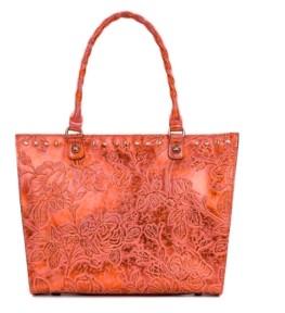 Patricia Nash Zancona Metallic Embossed Leather Tote, Created for Macy's