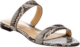 Alexandre Birman Samuela Snake-Embossed Leather Sandal