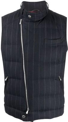 Brunello Cucinelli Zipped Striped Vest