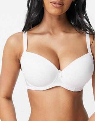 Ivory Rose Lingerie Ivory Rose Fuller Bust plain t-shirt bra in white