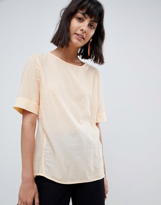 Selected Textured Woven Top-Pink