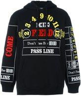 Kokon To Zai 'Pass Line' hoodie - men - Cotton - S