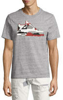 Mostly Heard Rarely Seen Infrared Sneaker T-Shirt, Gray