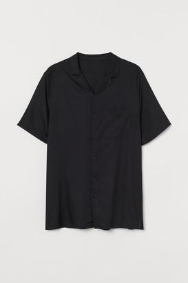 H&M Viscose Resort Shirt - Black