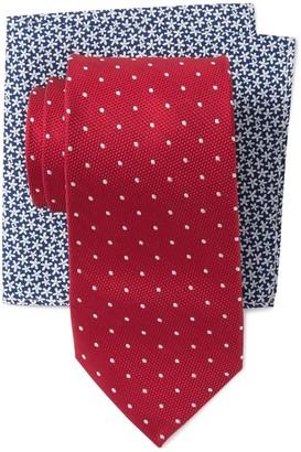 Tommy Hilfiger Dot Tie & Pocket Square Set