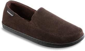 Isotoner Men's Mini Box Cord Luke Moccasin Slippers