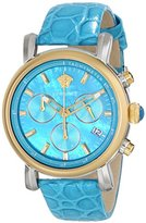 Versace Women's VLB040014 Day Glam Analog Display Swiss Quartz Turqoise Watch