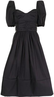Brock Collection Rosette cotton midi dress